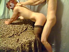 Masked wife totally fucked by her husband