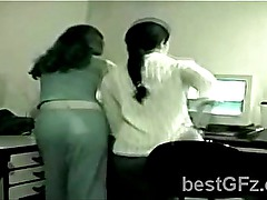 Hidden camera caught 2 stunning best friends going horny in the office-1204-15
