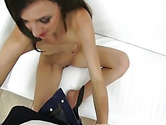 First anal session for petite Adela