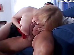 Foxy fattie fucked on the couch