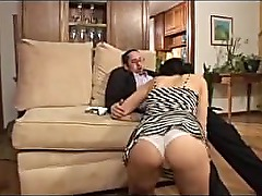 Lovely Young Brunette Shows Old Man Whos The Boss -Demilf.com