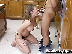 Cute bigtits housewife plays with black part6