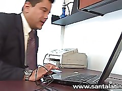 Colombian girls fucking in the office in working time