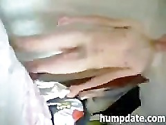 Busty wife sucks cock and gets facialized