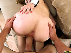 Kali gets pounded Doggystyle and rides Reverse Cowgirl.