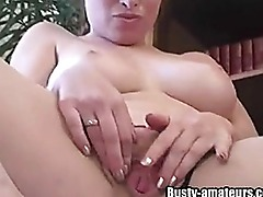 Busty Ginger Strips and Do Some Fingering
