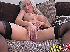 FakeAgentUK British glamour model does anal