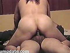 Video of babe with big butt riding a cock