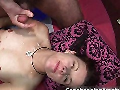 Amateur brunette Trinity gets hard cock