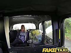 FakeTaxi British blonde gives taxi driver blowjob