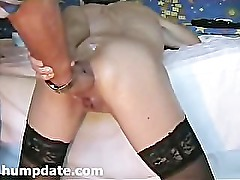 Kinky babe gets her asshole fisted doggystyle