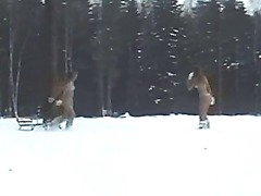 Masha and Sasha frolic in the forest