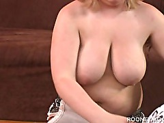 Blonde BBW Nikki Dickman POV Blowjob for Rodney Moore