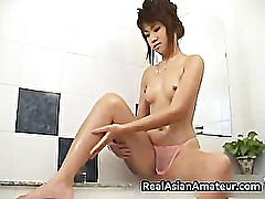 Asian girlfriend in pink see through part6