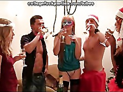 Orgy at the Christmas party
